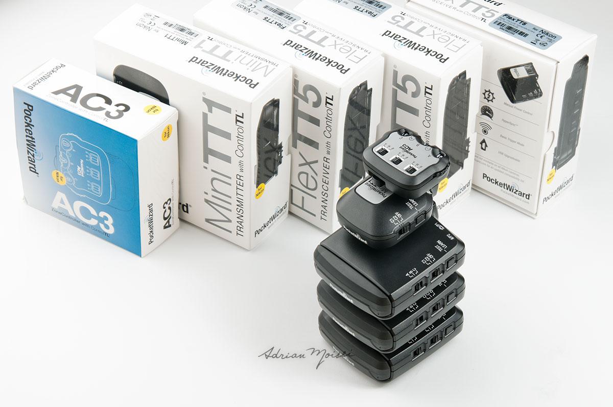Cutii si transmitatoare Pocket Wizard, miniTT1, Flex TT5, AC3, fotograf Iasi