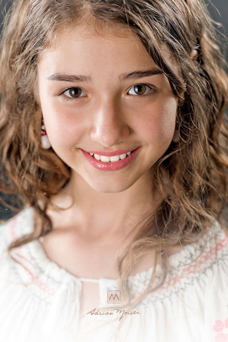 Fotografie de portret pentru copii, Iasi, Adrian Moisei, Modelis