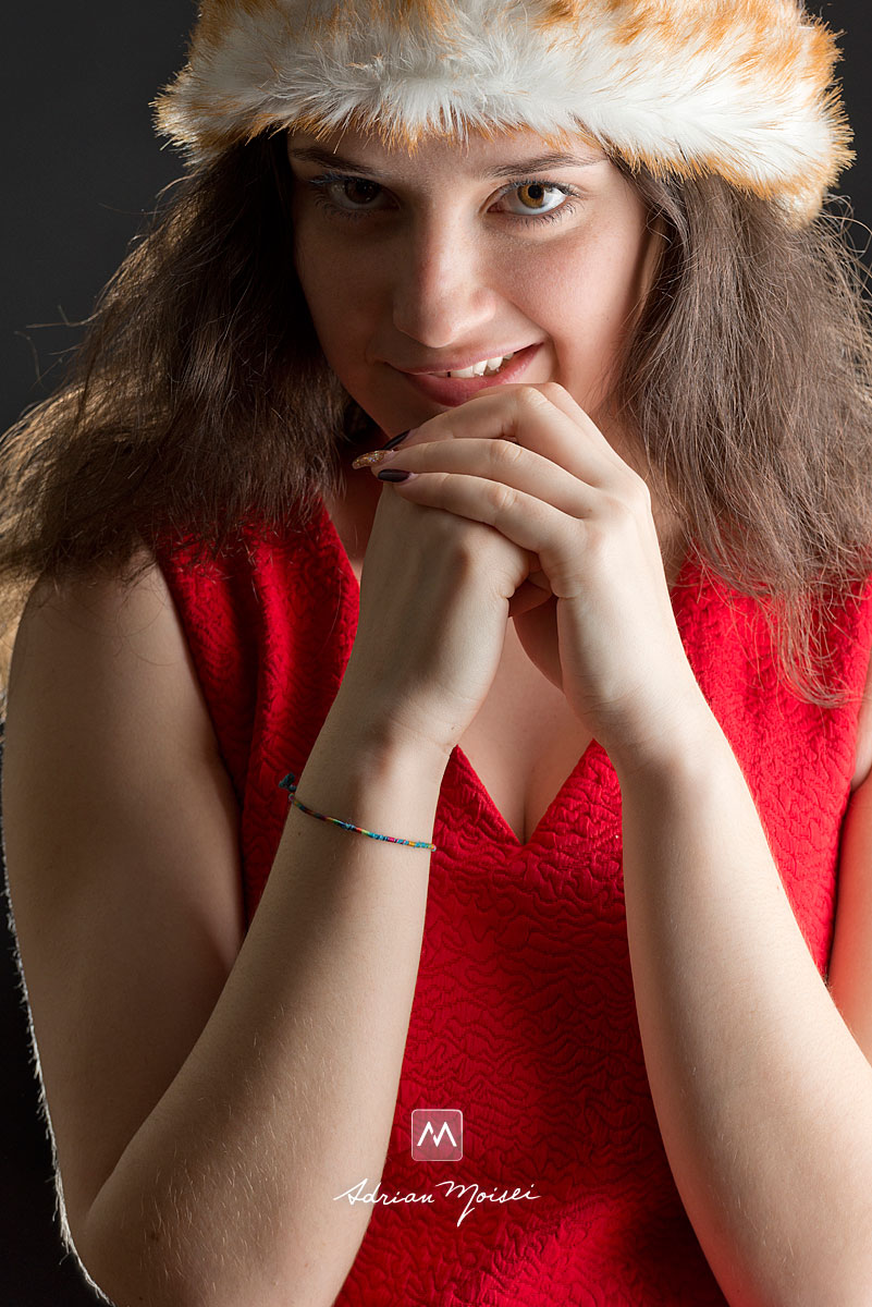 Portret de Craciunita, fotografie studio Iasi, Adrian Moisei
