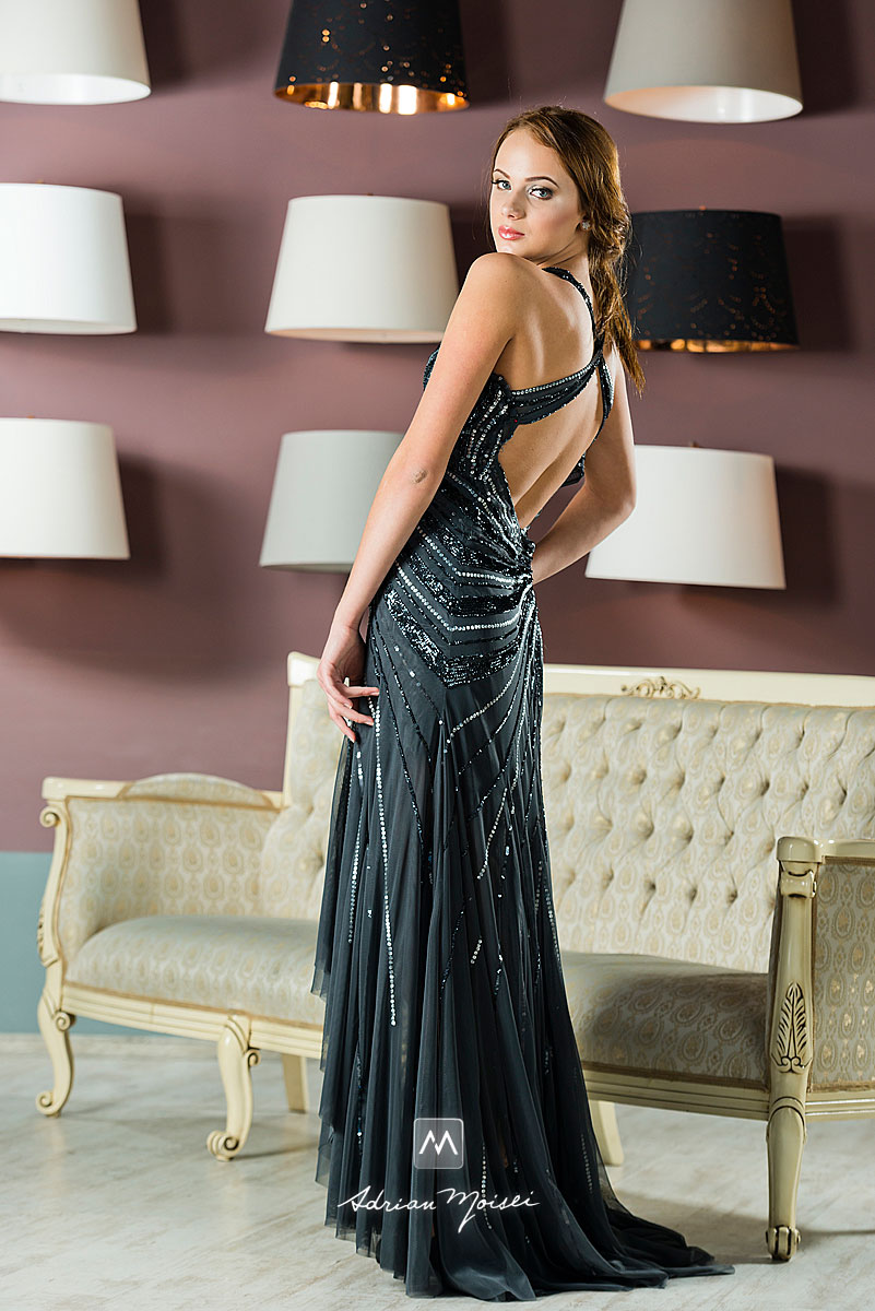Rochie neagra, garment foto realizata de fotograf nuntă Iași Adrian Moisei