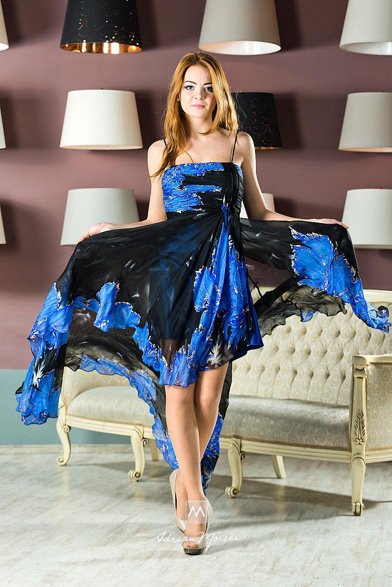 Elena Patrunsu intr-o rochie de ocazie, fotograf Iasi, Adrian Moisei