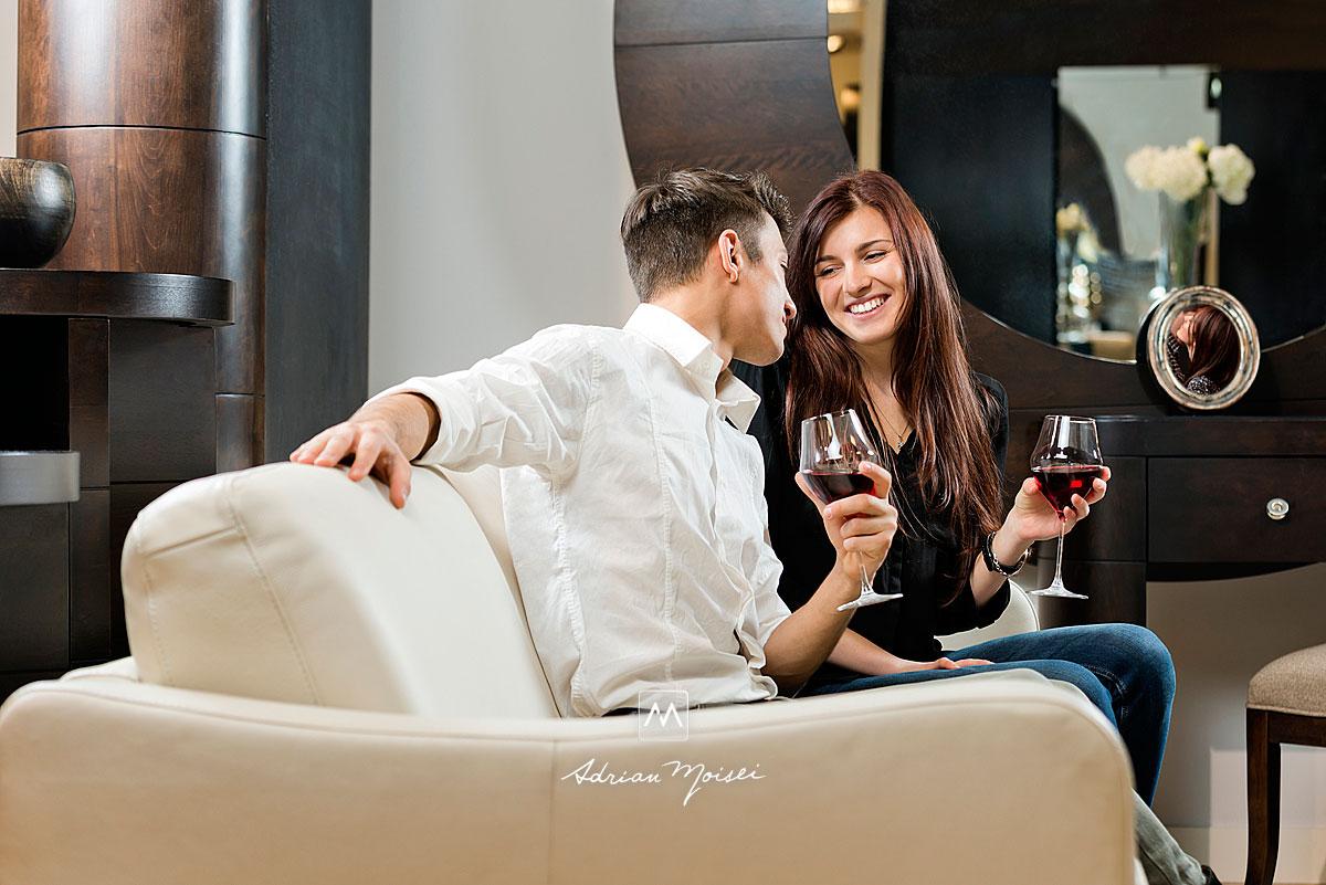 Ședință foto cu Maria & Adrian realizată la Mobexpert