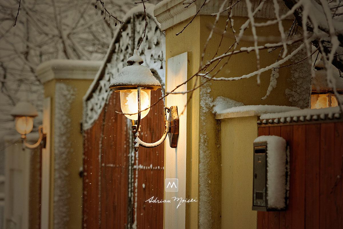 Poarta cu felinare de la studioul fotografului iesean Adrian Moisei