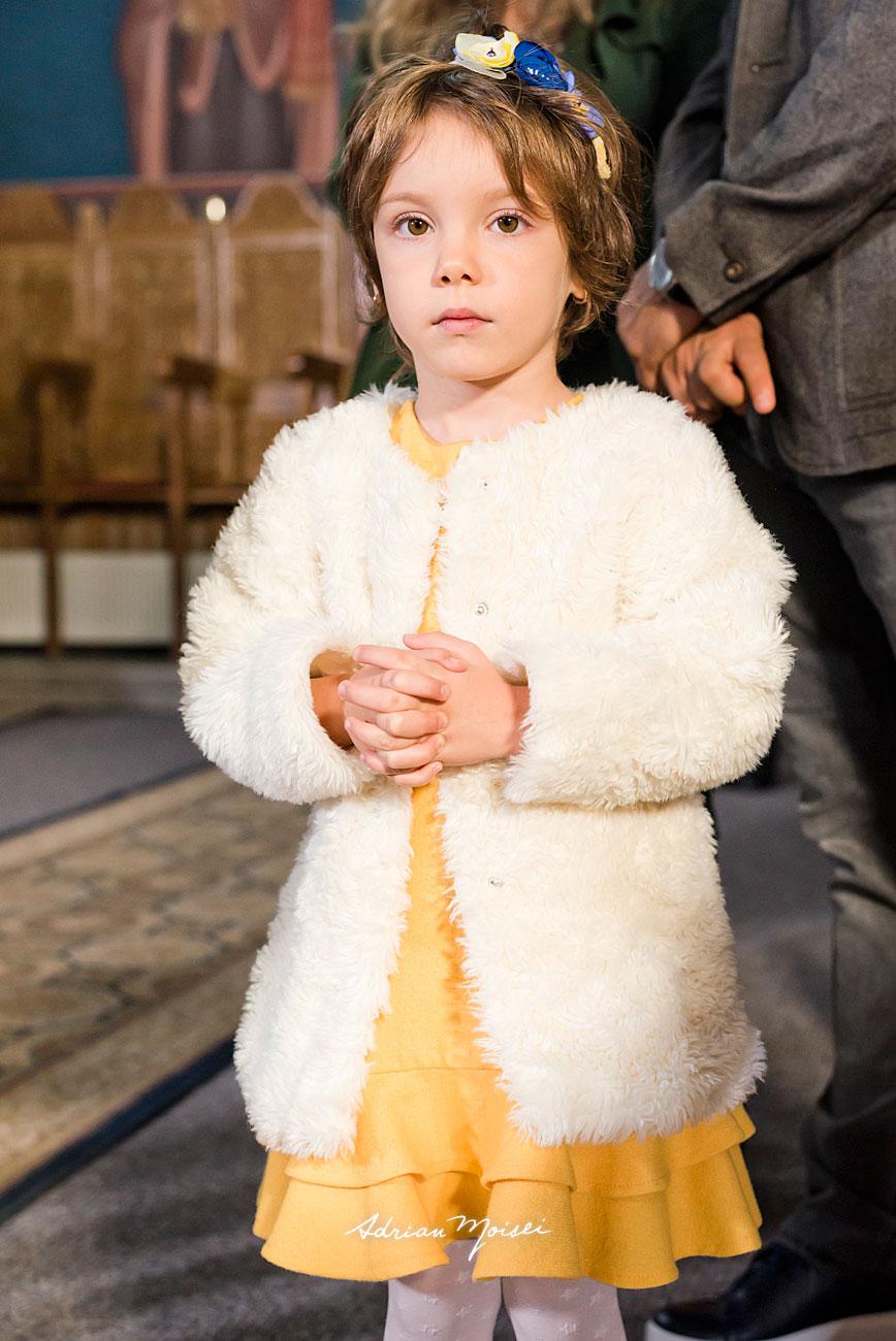 Portret de fetita, la botez, in Iasi, fotograf botez Iași