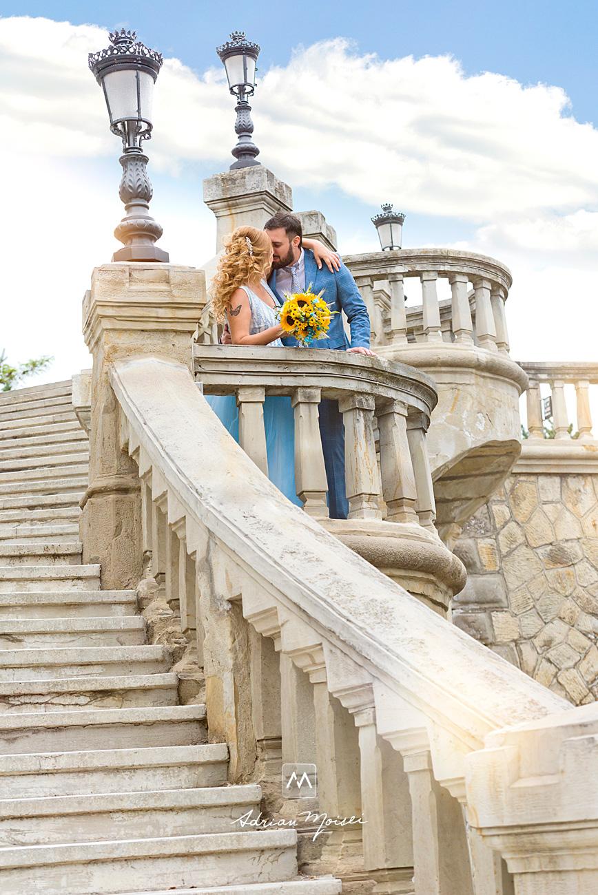 Mire și mireasă în ziua nunții lor, la Râpa Galbenă, fotograf nuntă Iași