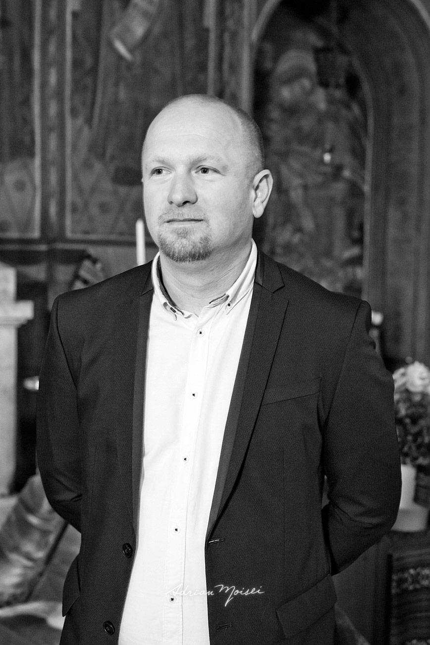 Portret de unchi, fotografie alb negru, fotograf botez Iași