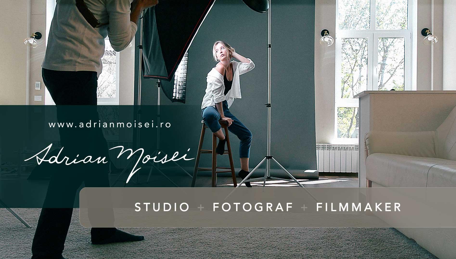 Studio foto Iași – corporate headshot, portret, fine art, fashion, beauty. Fotograf de produs Iași. Fotografie în studio și în livada studioului (familie, bebeluși, copii).