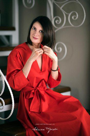 Lady in red, fotograf Iași, fotografie de portret