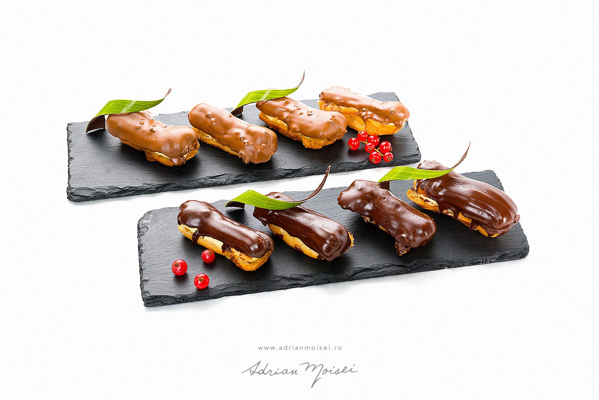 Eclere cofetaria Palibo fotograf de produs Iasi fotograf culinar Adrian Moisei