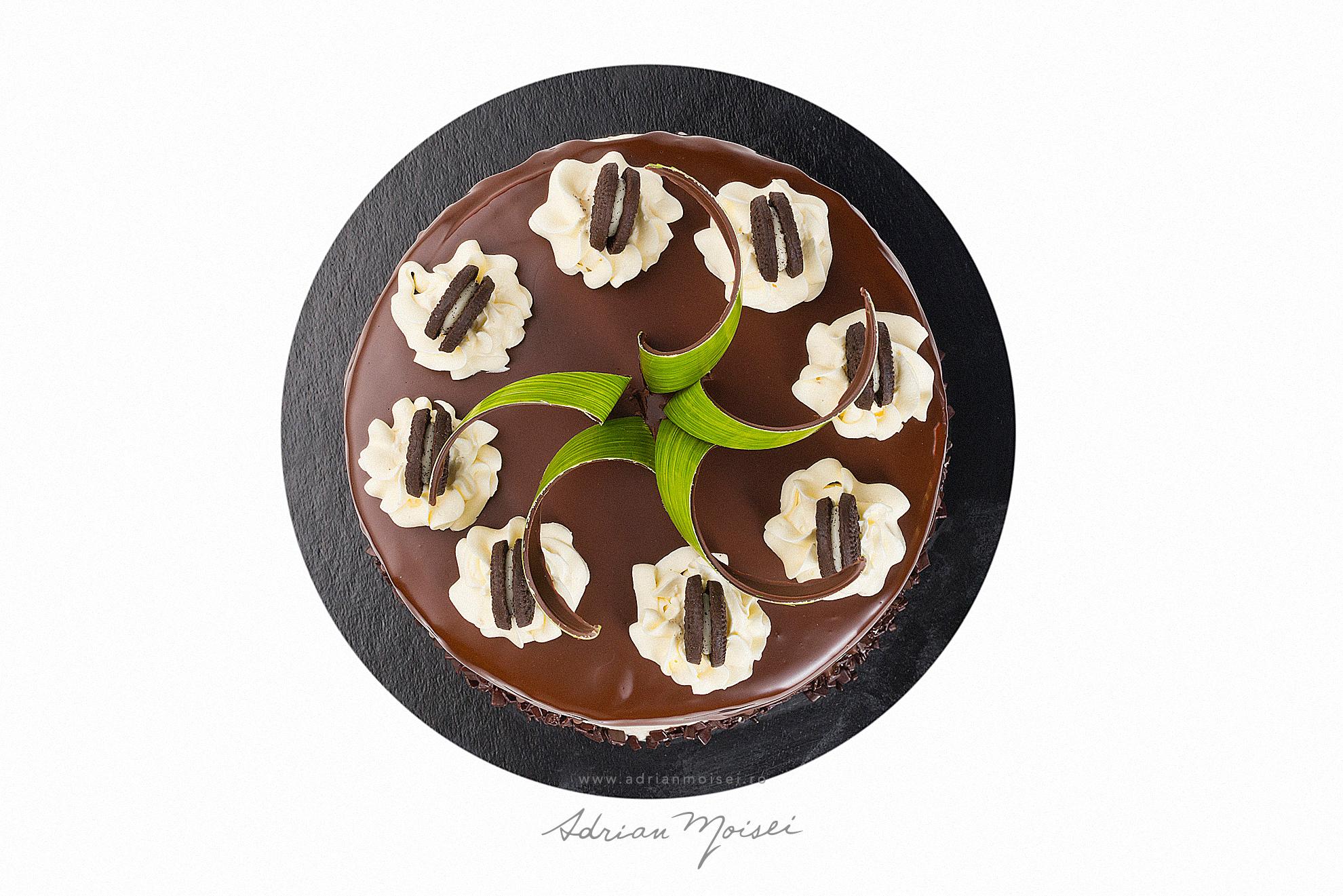 Tort Oreo ciocolata cofetaria Palibo fotograf de produs Iasi fotografie patiserie Adrian Moisei