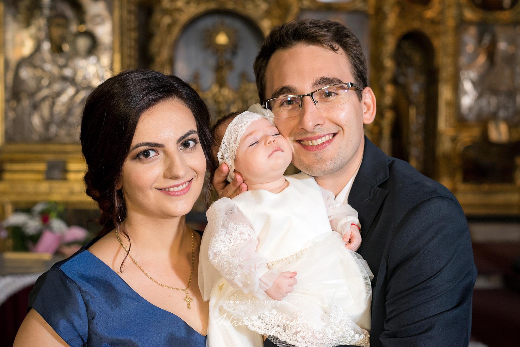 Fotograf botez Iasi Adrian Moisei la biserica sSfântul Spiridon din Iași